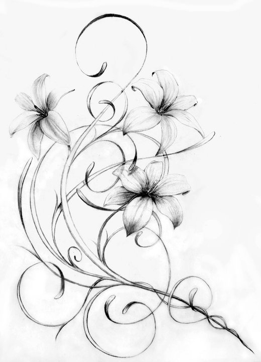 tattoo-design-of-lilies